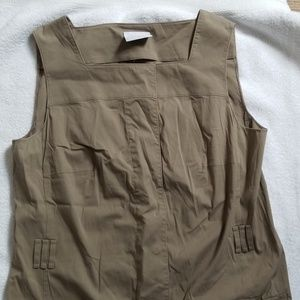 Khaki akris trench dress